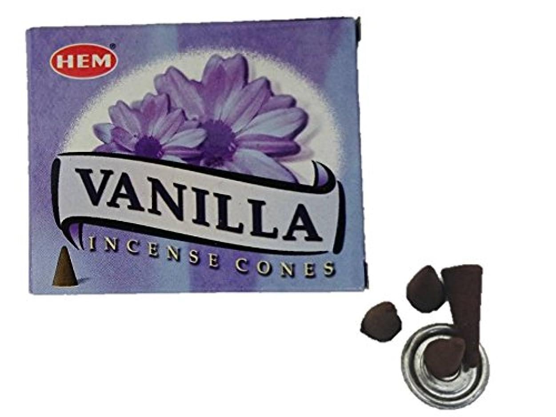 限りフック性能HEM(ヘム)お香 バニラ コーン 1箱