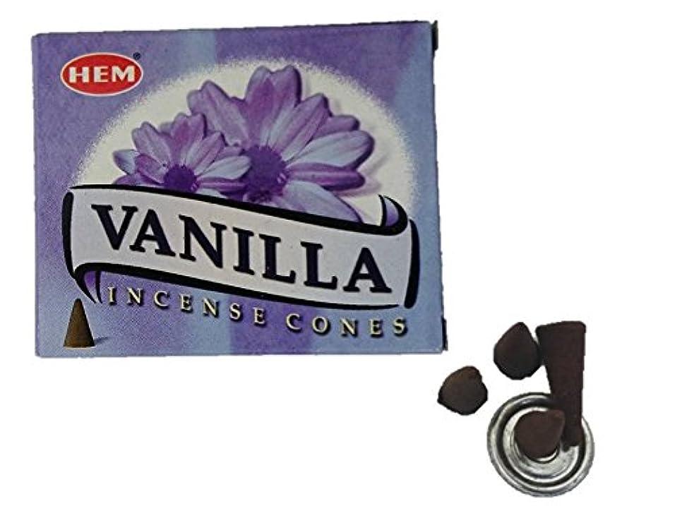 HEM(ヘム)お香 バニラ コーン 1箱