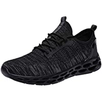 Waymine Men's Sneakers Breathable Mesh Running Shoes Sport Shoes Comfortable Outdoor Solid Footwear Basketball Shoes