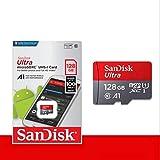サンディスク ( SANDISK ) 128GB ULTRA microSDXCカード 最大読込 100MB/s [ 海外パッケージ ] SDSQUAR-128G-GN6MN
