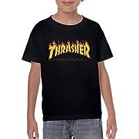 Thrasher Magazine Youth Kids Short Sleeve Baseball T Shirts