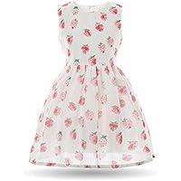 CIELARKO Girls Dress Strawberry Printed Children Dresses