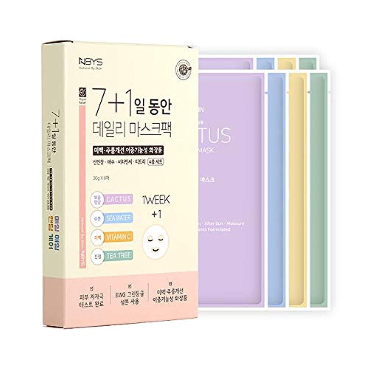 魔女枠しわ[NBYS] 7+1 NBYS RE Your Skin Mask フェイスパック 8枚セット [並行輸入品]