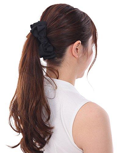 ボナバンチュール(Bonaventure) グログラン ふんわり リボン バナナクリップ レディース ヘアアクセサリー ヘアクリップ 人気 ブランド 髪留め ブラック