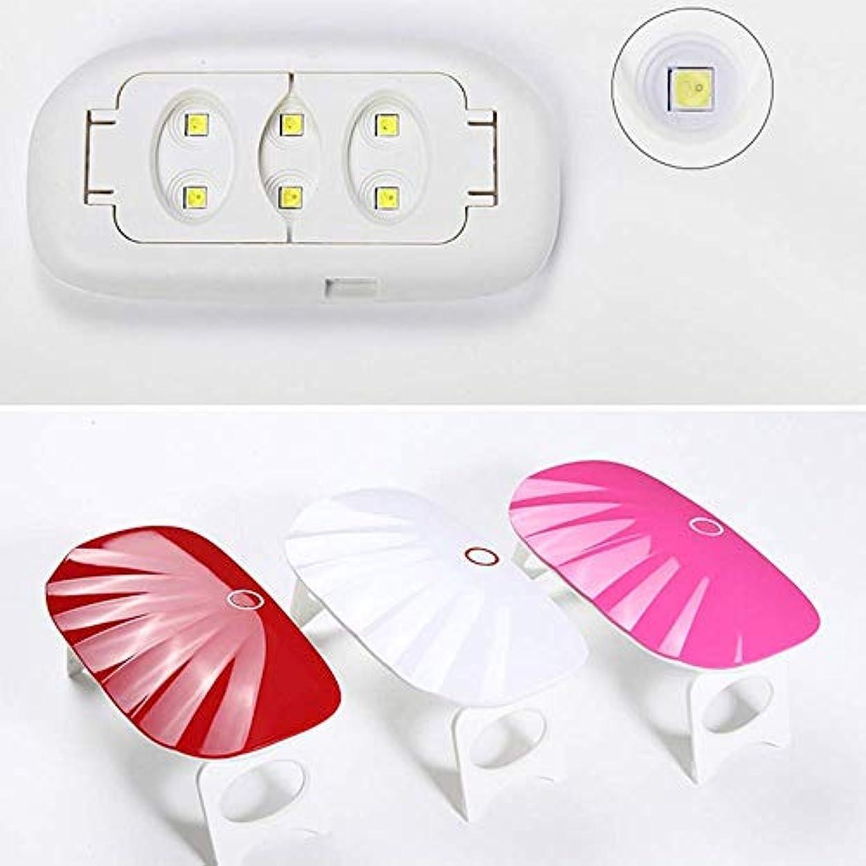 可動式昆虫シャッフルネイルドライヤーUV ledランプネイルドライヤー家庭用マイクロポータブルusbケーブルジェルネイルポリッシュドライヤー機ミニネイルアートツール、ピンク
