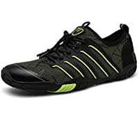 UBFEN Mens Womens Water Shoes Aqua Shoes Swim Shoes Beach Sports Quick Dry Barefoot for Boating Fishing Diving Surfing with Drainage Driving Yoga Upstream