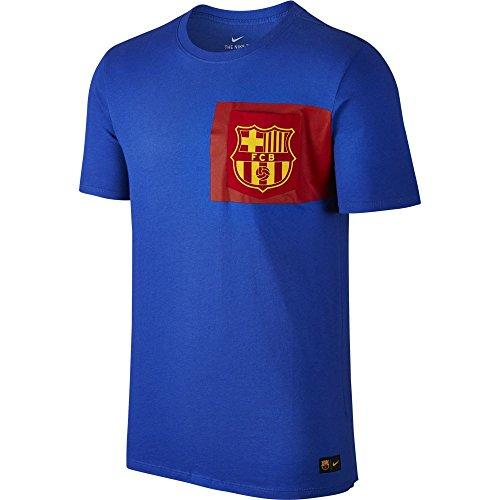 ナイキ 16-17 バルセロナ クレスト SS Tシャツ ゲームロイヤル×Uゴールド S
