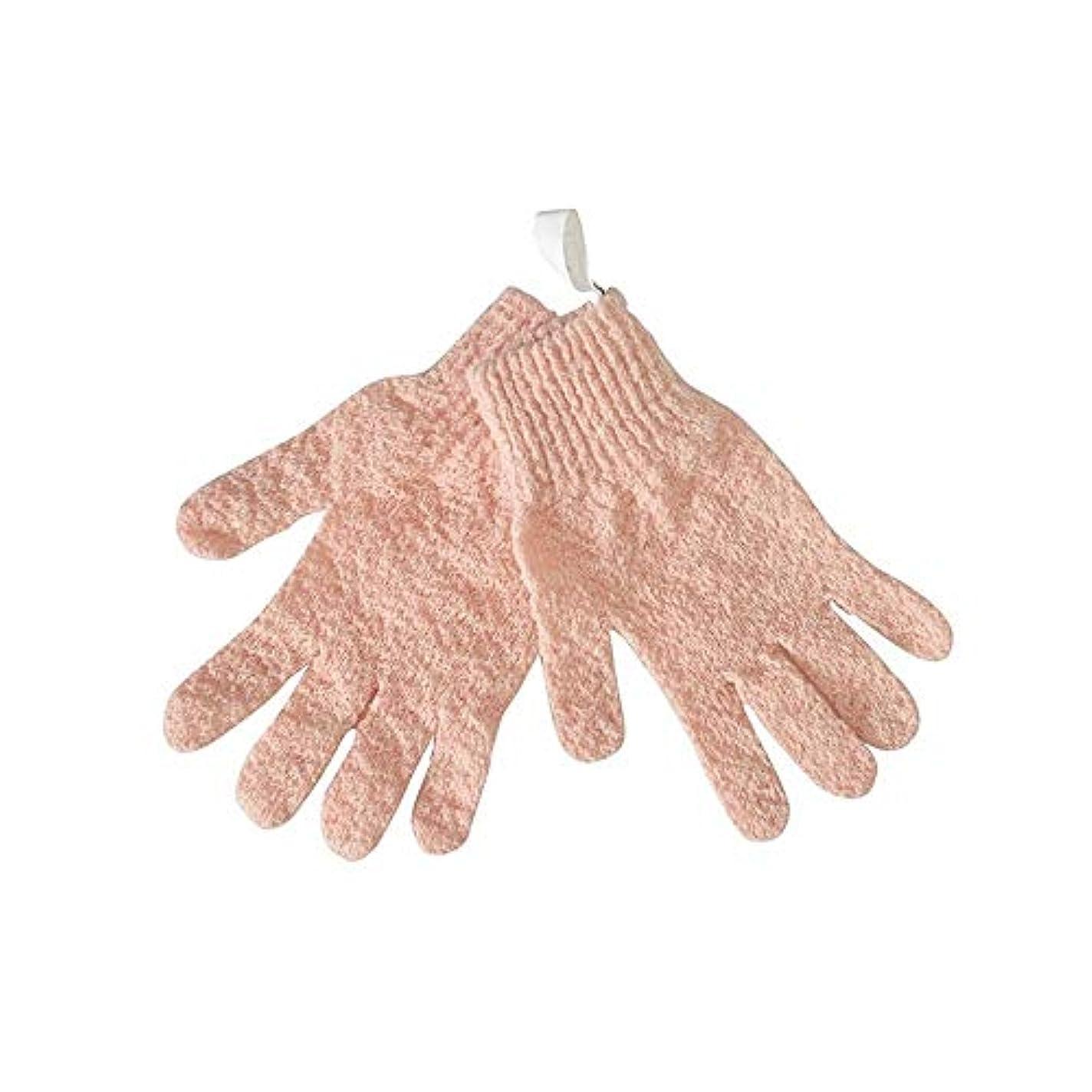 ありがたい取り出すフォージBTXXYJP シャワー手袋 お風呂用手袋 あかすり手袋 ボディブラシ ボディタオル やわらか バス用品 男女兼用 角質除去 (Color : Pink)