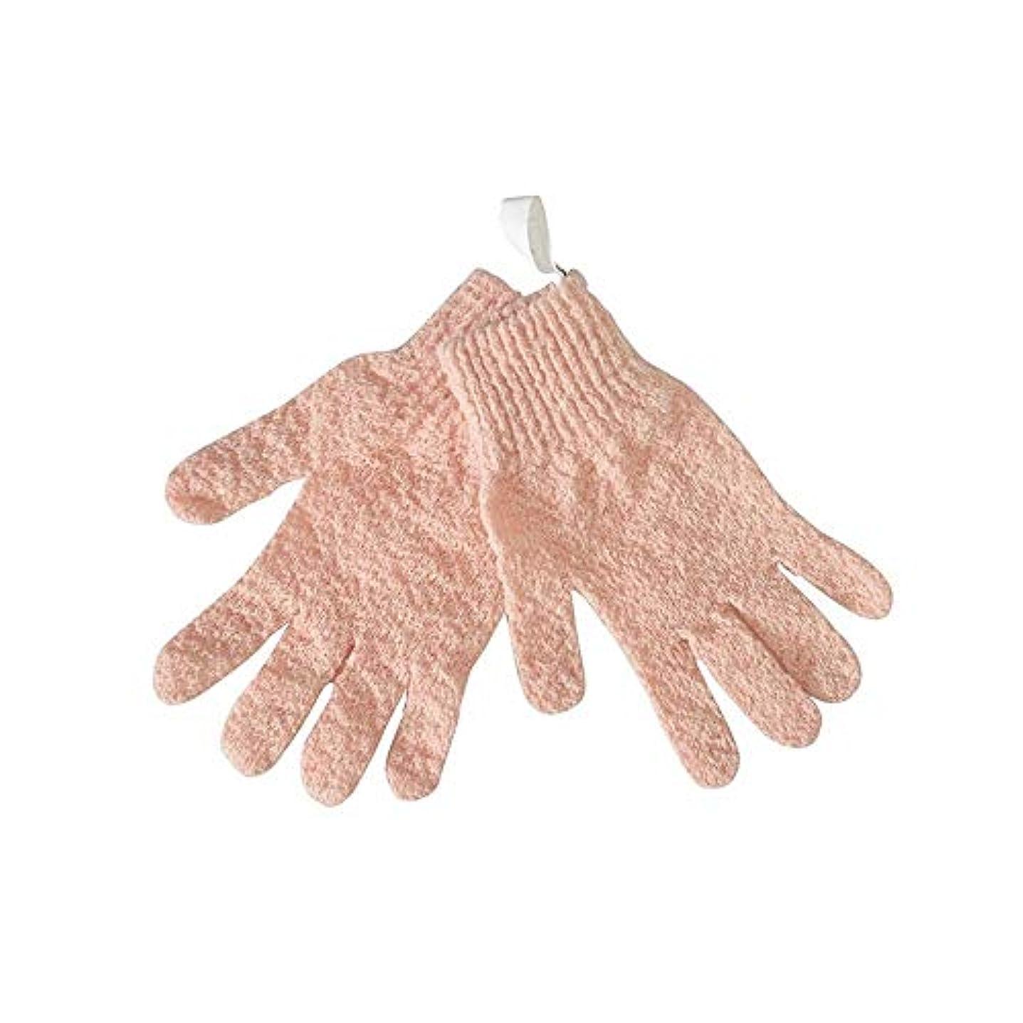 BTXXYJP シャワー手袋 お風呂用手袋 あかすり手袋 ボディブラシ ボディタオル やわらか バス用品 男女兼用 角質除去 (Color : Pink)