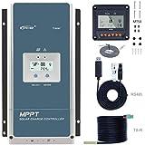 EPEVER 100a mpptソーラー充電コントローラ、12V / 24V / 36V / 48V自動最大150V 7500W入力電源が密閉/ゲル/フラッド用に適合(Tracer10415AN)