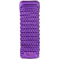 超軽量TPU卵タンクハンド圧力シングルインフレータブルクッションアウトドアテント寝袋キャンプマットモイスチャーレイヤーブルー/オレンジ/パープル185X60X3cm (色 : Purple)