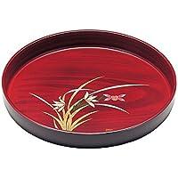 日本の美 紀州漆器 丸盆 杢目 らん 10.0