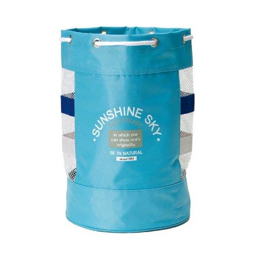 スクール水泳用品 メッシュ型スイミングバッグ (水色 #0052)