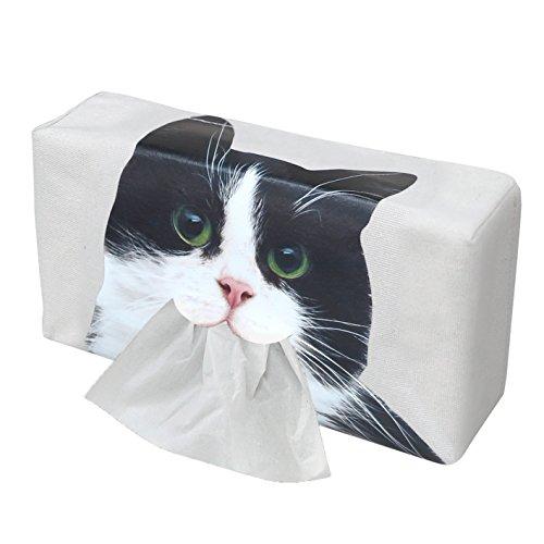 口からティッシュが出る! かわいい ネコ の ティッシュケース ハチワレ ME324