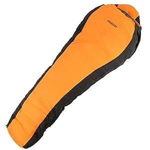 DABADA(ダバダ) 寝袋 冬用 ダウン マミー型 シュラフ スリーピングバック [最低使用温度-25度] (オレンジ)