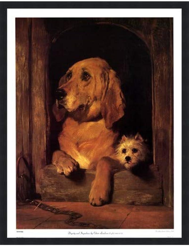 仮定する懲らしめ心のこもった尊厳とImpudence by Sir Edwin Henry Landseer – 20 x 26インチ – アートプリントポスター LE_44358-F101-20x26