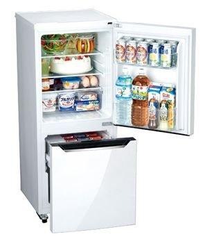 【未使用アウトレット品】 130L 2ドア Hisenseハイセンスジャパン 小型冷凍冷蔵庫 HR-D1301 パールホワイト 幅48cm右開き