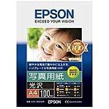 エプソン コピー用紙 写真用紙 光沢 100枚 A4 KA4100PSKR
