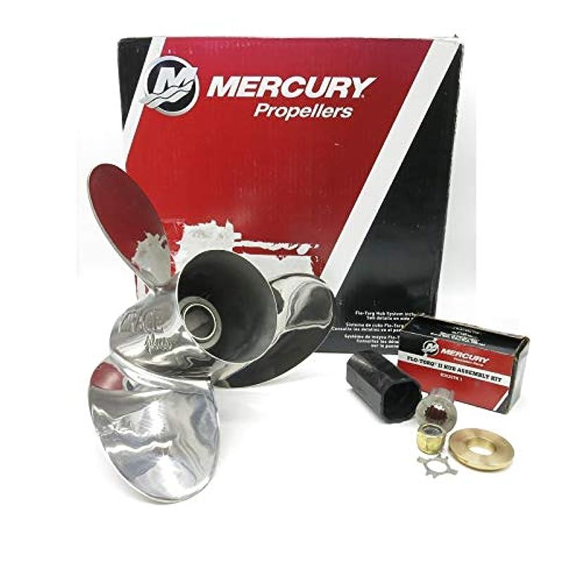 モーションドア美人Mercury Mercruiser OEM ミラージュ ステンレススチール プロップ 15-1/4x19 プロペラ 15.3 48-13700A46 Mercury