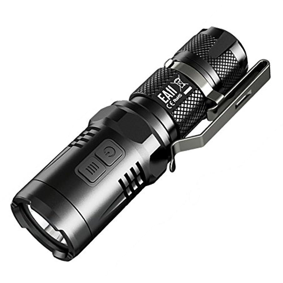 敏感な人工的なプレゼンターNITECORE EA11 [CREE XM-L2は、U2、白色LED +赤塔/輝度MAX LED:1これは900ルーメン/ AA電池を倍または14500 1本×] ブラック