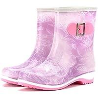 MEIGUIshop Rain Boots - mid-Tube Non-Slip Jelly rain Boots Water Shoes