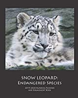 SNOW LEOPARD: 2019-2020 Academic Planner and Engagement Book: Weekly Monthly Agenda Calendar Organizer