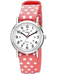 TimexウィークエンダーDots SmallカジュアルアナログWatch W /リバーシブルslip-thru レディース