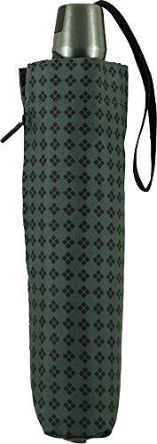 Knirps 折りたたみ傘 ワンタッチ自動開閉式 コンパクト 【正規輸入品】 T.200 MediumDuomatic Rhombus Gray KNT200-7042