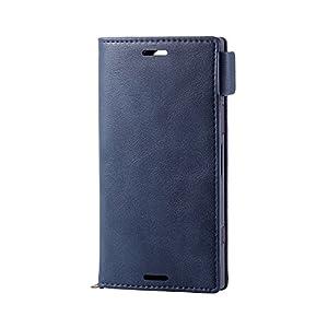 エレコム Xperia XZ1 Compact ケース SO-02K(docomo) 手帳型 レザー サイドマグネット スタンド機能付き ICカード PD-SO02KPLFYNV