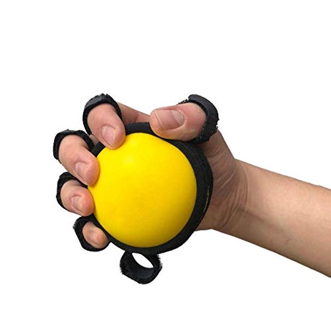 瞑想するメーター療法ハンドセラピー運動ボール、脳卒中、片麻痺を軽減するための5本指分離ボールリハビリテーショントレーニング