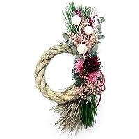 hikka ブーケトート(迎春飾り しめ縄)(ピンク)プリザーブドフラワー