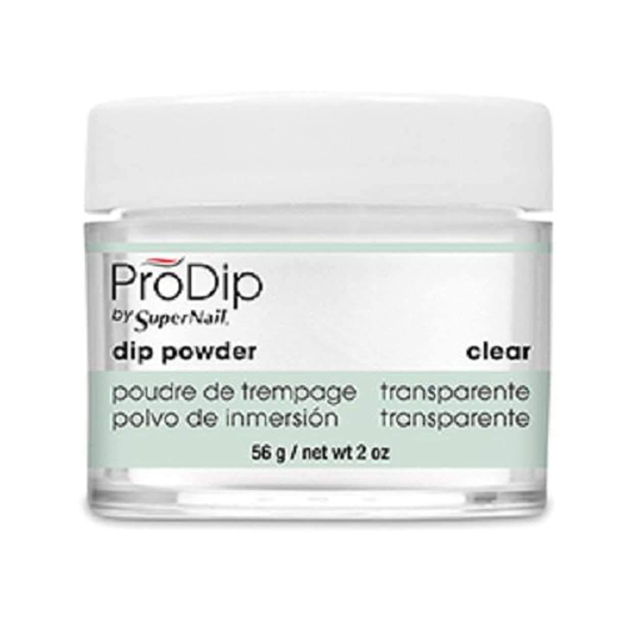 慎重排出差別的SuperNail - ProDip - Dip Powder - Clear - 56 g/2 oz
