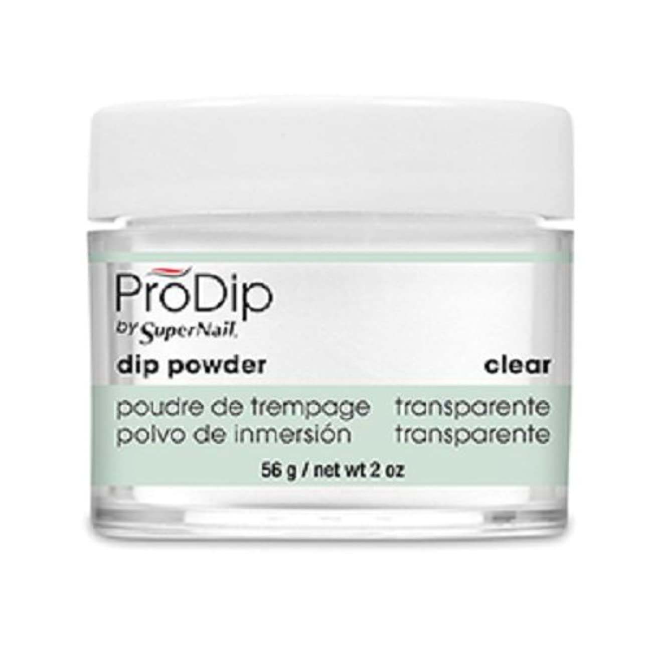 母除去グラスSuperNail - ProDip - Dip Powder - Clear - 56 g/2 oz