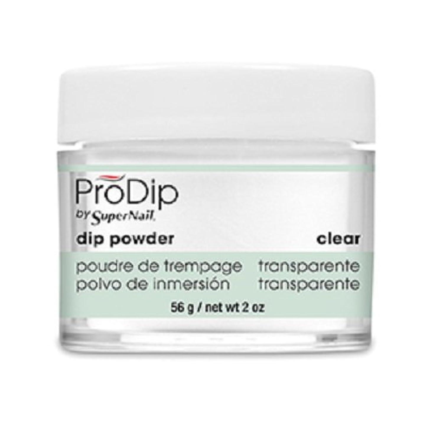 角度バーガー穿孔するSuperNail - ProDip - Dip Powder - Clear - 56 g/2 oz