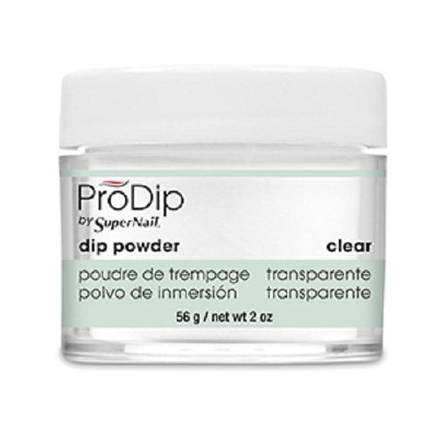 作業プーノシンジケートSuperNail - ProDip - Dip Powder - Clear - 56 g/2 oz