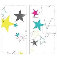 手帳型ケース 全機種対応 【Nexus 6 ネクサス 6専用】 星 パターン ポップ テクノ シンプル ブック型 二つ折り レザー 手帳カバー 手帳タイプ ダイアリー スマホケース スマートフォン
