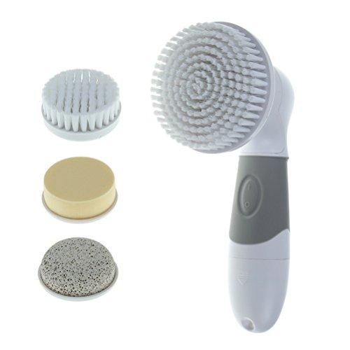 美顔用防水電動洗顔ブラシ 4つの交換式ケアヘッ・・・