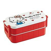 シンプルで使いやすい2段式のお弁当箱。 pos.476525 ハローキティ Red Heart タイトランチボックス2段 YZW3 〈簡易梱包