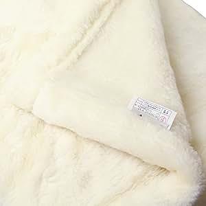 One thread 日本製 タスマニアウール使用 マイヤー編み 毛足約15mm 洗える ウール毛布(毛羽部) シングルサイズ