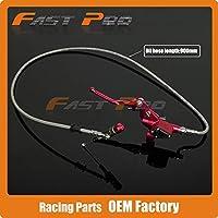 900ミリメートル90センチ赤油圧クラッチレバーマスターシリンダー50-125cc垂直エンジンオフロードオートバイダートバイク