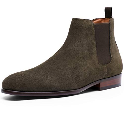 [フォクスセンス] ブーツ ビジネスシューズ チェルシーブーツ サイドゴア ブーツ メンズ 革靴 本革 グリーン 25.5cm 6781-13