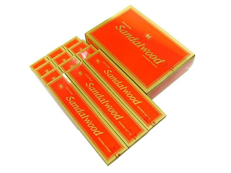 話をするログ彫るSHALIMAR(シャリマー) SANDALWOOD サンダルウッド香(レギュラーボックス) スティック 12箱セット