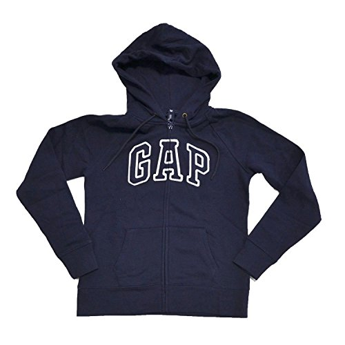 GapレディースフリースアーチロゴフルZipパーカー( XL ,ネイビーブルー)