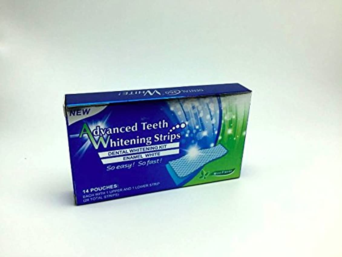 ミンチ流行メンタリティホワイトニング ストライプ Advanced Teeth Whitening Strips 白い歯