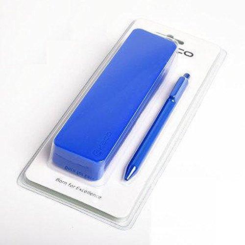 [ MT On&Do ] 柔らか シリコン ペンケース 筆箱 ペン付き カラー豊富 KACO PURE ギフト シンプル (ブルー)