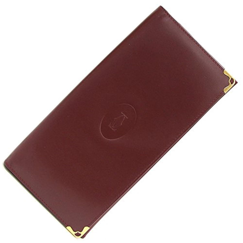 Cartier(カルティエ) 二つ折り長財布 マスト ボルドー カーフスキン 中古 赤茶 レザー ロングウォレット Cartier [並行輸入品]