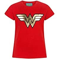 DC Comics Wonder Woman Foil Logo Girl's T-Shirt