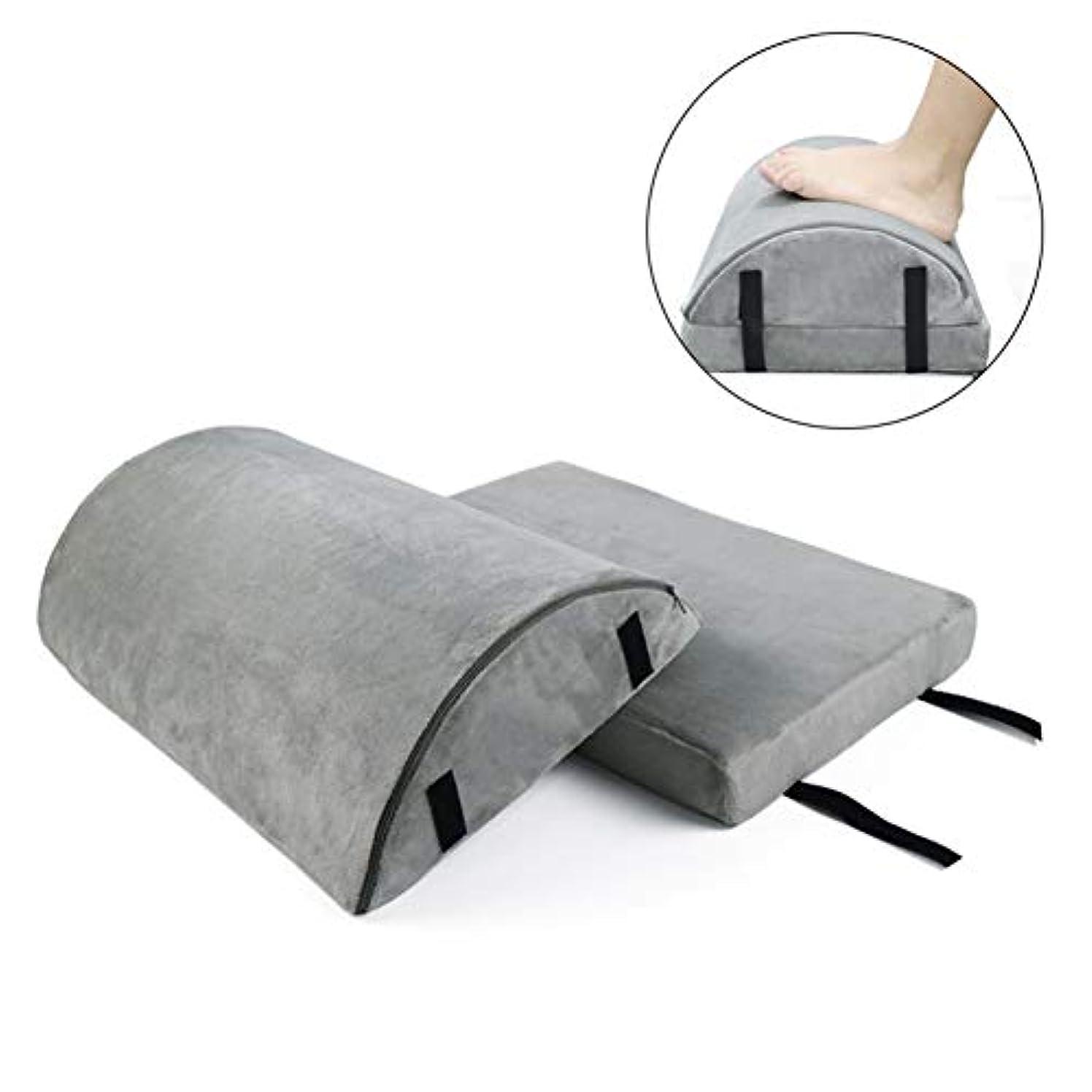 バナー胚限定ハーフムーン枕、二重層、取り外し可能/洗えるコットンカバー、滑り止め、マッサージ、フットパッド、女性および男性用