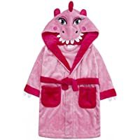 Infant Girls Novelty Pink Dinosaur Robe Dressing Gown