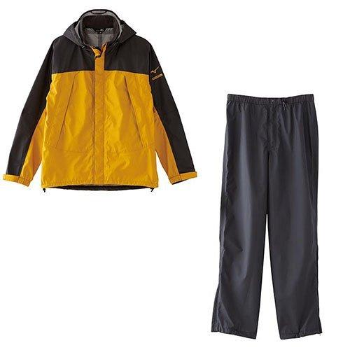 MIZUNO(ミズノ) レインウェア 上下セット ベルグテックEX ストームセイバーV レインスーツ 上下 セットアップ メンズ XLサイズ 45:イエロー a2jg4a01-XL-45